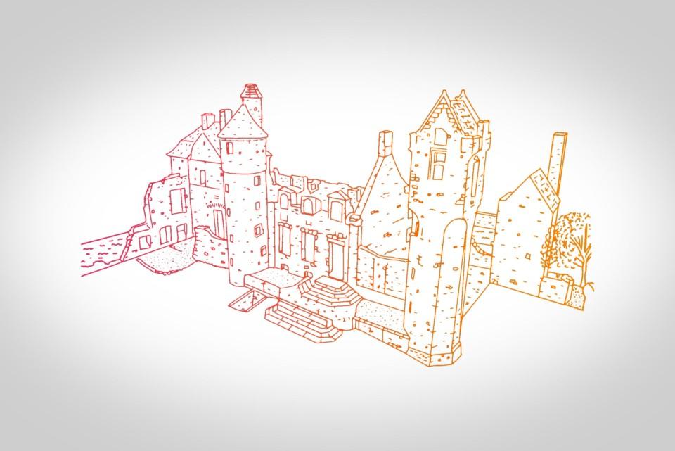 background-chateau-de-gratot-flyers-kakemono-totem-guide-depliant
